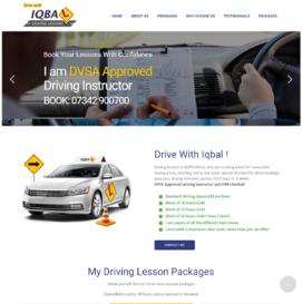 Driving Lesson Website Design